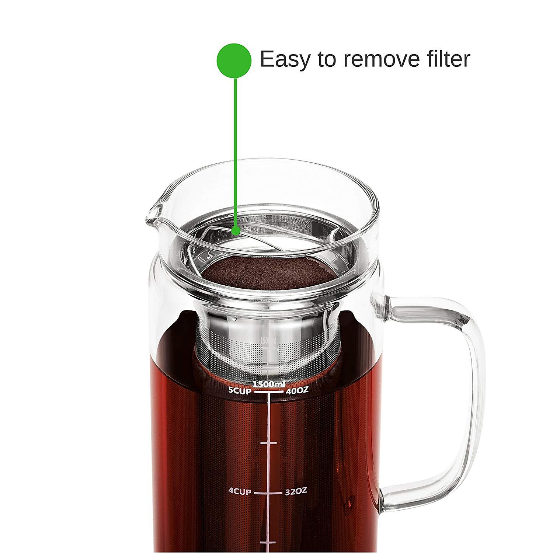 Bt 228 T Cold Brew Coffee Maker 1 0 Quart 32 Oz Iced Coffee