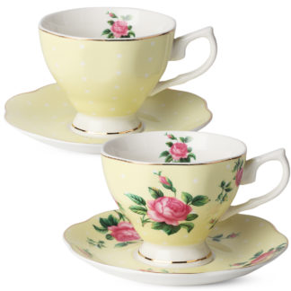 Btät Espresso Cups And Saucers Set Of 6 Demitasse Cups 24 Oz